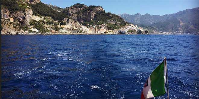 water taxi in Amalfi